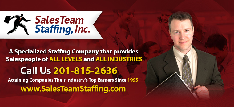 Sales Staffing Agency in Pleasant Valley Crossroads, NJ